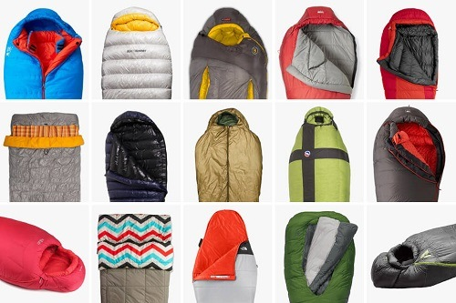 15 Sleeping Bags Different Colors