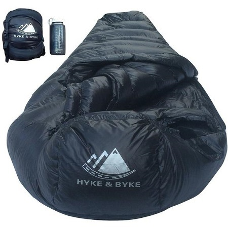 Hyke & Byke Sleeping Bag for Backpacking Packed