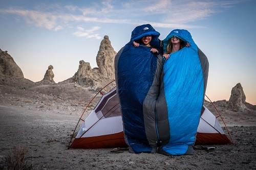 Couple In Sleeping Bags