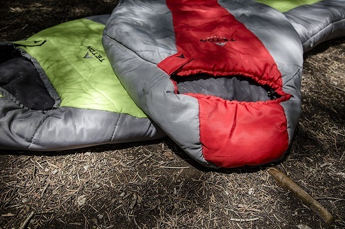Teton Green and Red Sleeping Bag 5F Ultralight